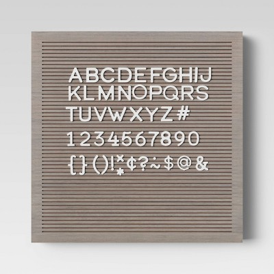 "14""x 14"" Wood Letterboard Gray - Threshold™"