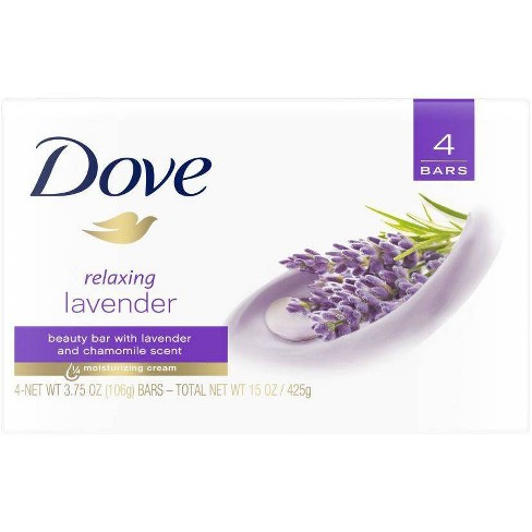 Dove Relaxing Lavender Beauty Bar Soap - 3.75oz/4ct - image 1 of 4