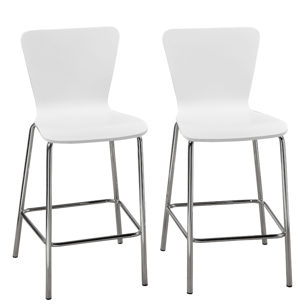 "Image of ""24"""" Hillboro Stool White - Buylateral"""