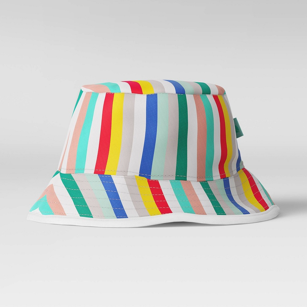 Image of Kids' Striped Bucket Hat - Sun Squad , Kids Unisex, Size: One Size, Green