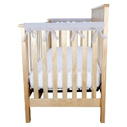 Trend Lab Short Gray Fleece Narrow Crib Rail Cover