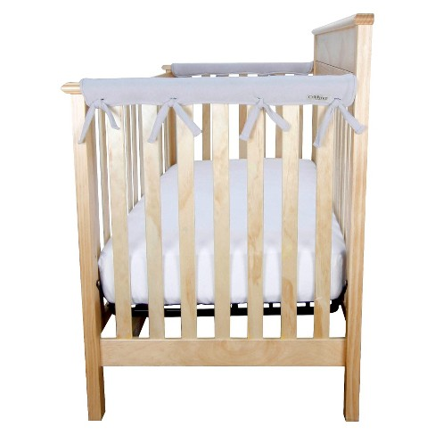 Trend Lab Short Gray Fleece Narrow Crib Rail Cover - image 1 of 4