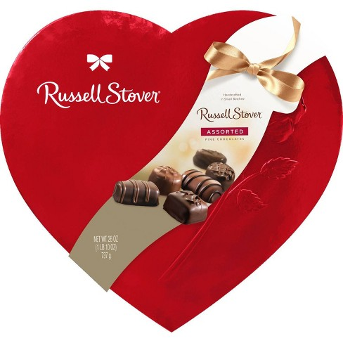 Russell Stover Valentine's Assorted Chocolates Red Foil Heart - 26oz - image 1 of 1