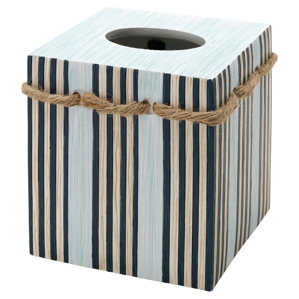 Image of Seaside Serenity Resin Novelty Tissue Box Cover - India Ink