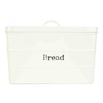Home Basics Tin Bread Box, Ivory