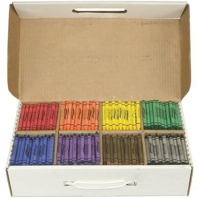Prang Non-Toxic Crayon Classroom pk, 3-1/2 x 5/16 in, Assorted Color, set of 800
