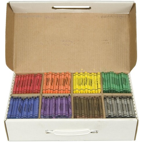 Prang Non-Toxic Crayon Classroom pk, 3-1/2 x 5/16 in, Assorted Color, set of 800 - image 1 of 1