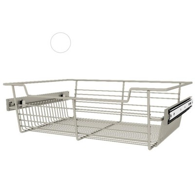 Rev-A-Shelf Sidelines CBSL-181405SN-3 18 by 5 Inch Satin Nickel Wire Pullout Storage Basket Bin Organizer for Kitchen Closet Cabinet (3 Pack)