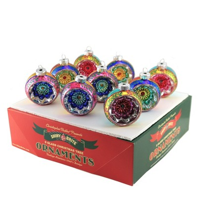 "Shiny Brite 2.5"" Cc Reflector Rounds Christmas Ornament  -  Tree Ornaments"