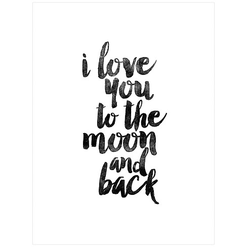 I Love You to the Moon and Back by Brett Wilson Unframed Wall Art Print - image 1 of 2