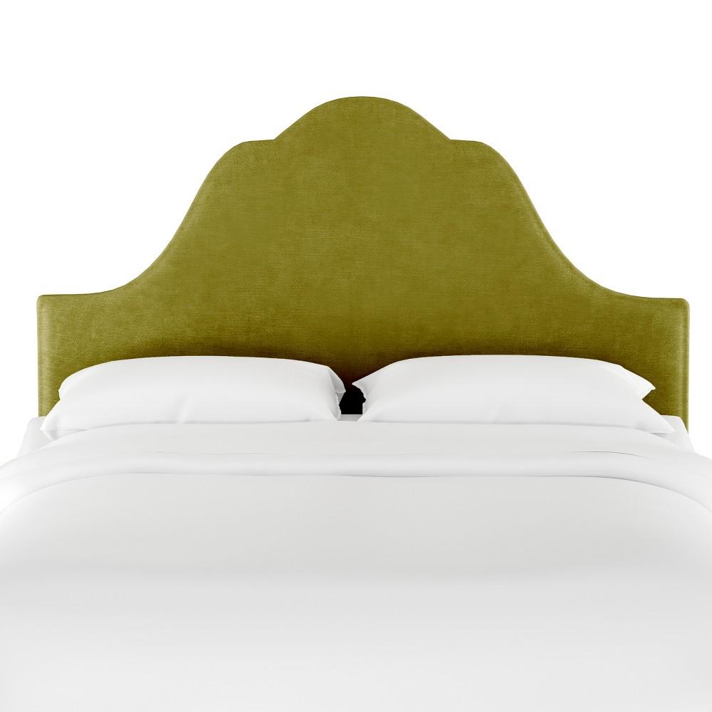 Twin Zinnia Arched Headboard Green Velvet - Opalhouse