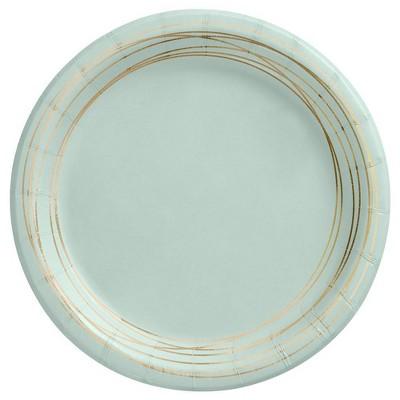 "6.75"" 20ct Botanical Snack Paper Plates Sage - Spritz™"
