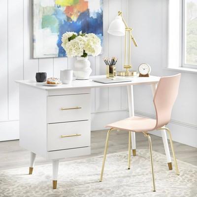 Leon Mid Century Desk White - angelo : Home