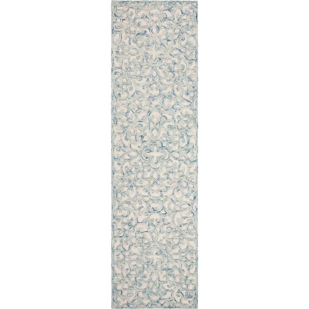 22X8 Shapes Tufted Runner Blue/Ivory - Safavieh Compare