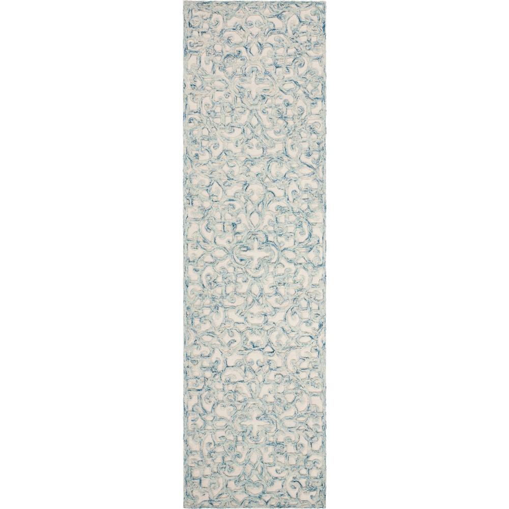 2'2X8' Shapes Tufted Runner Blue/Ivory - Safavieh