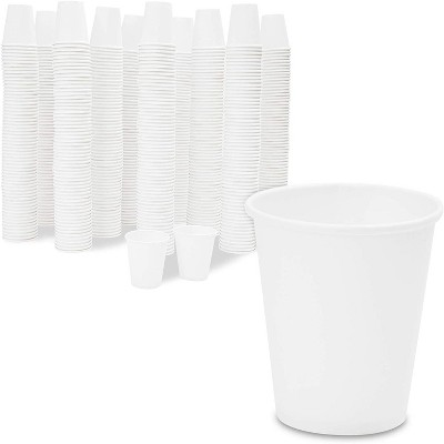 600-Pack 3 Oz Small Paper Cups, Disposable Bath Cups for Bathroom & Mouthwash, Plain White