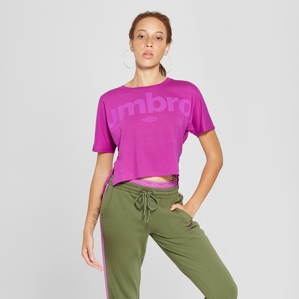 Umbro Women's Logo T-Shirt - Purple XL