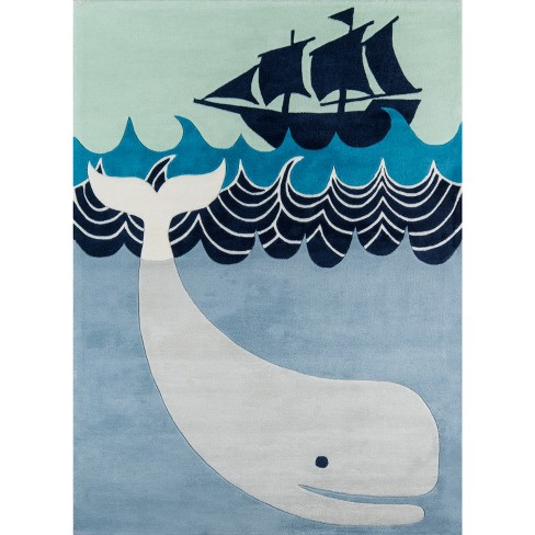 Happy Whale Rug - image 1 of 6