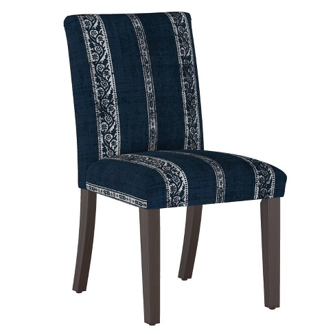 Dining Chair Block Print Striped Navy - Threshold™ - image 1 of 4