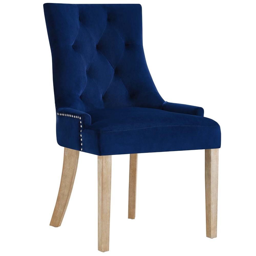 Pose Velvet Dining Chair Navy (Blue) - Modway