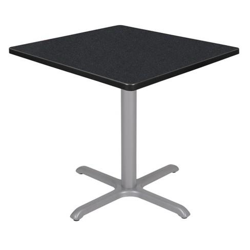 """30"""" Via Square X-Base Table - Regency - image 1 of 3"""