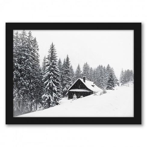 americanflat winter nature scene by tanya shumkina black frame wall art target target