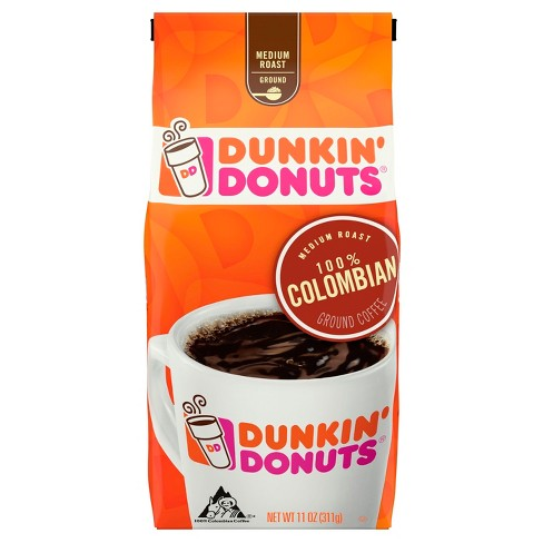 Dunkin Donuts 100% Colombian Medium Roast Ground Coffee - 11oz - image 1 of 1