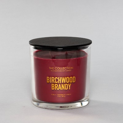 13oz Clear Jar 2-Wick Candle Birchwood Brandy - Chesapeake Bay Candle