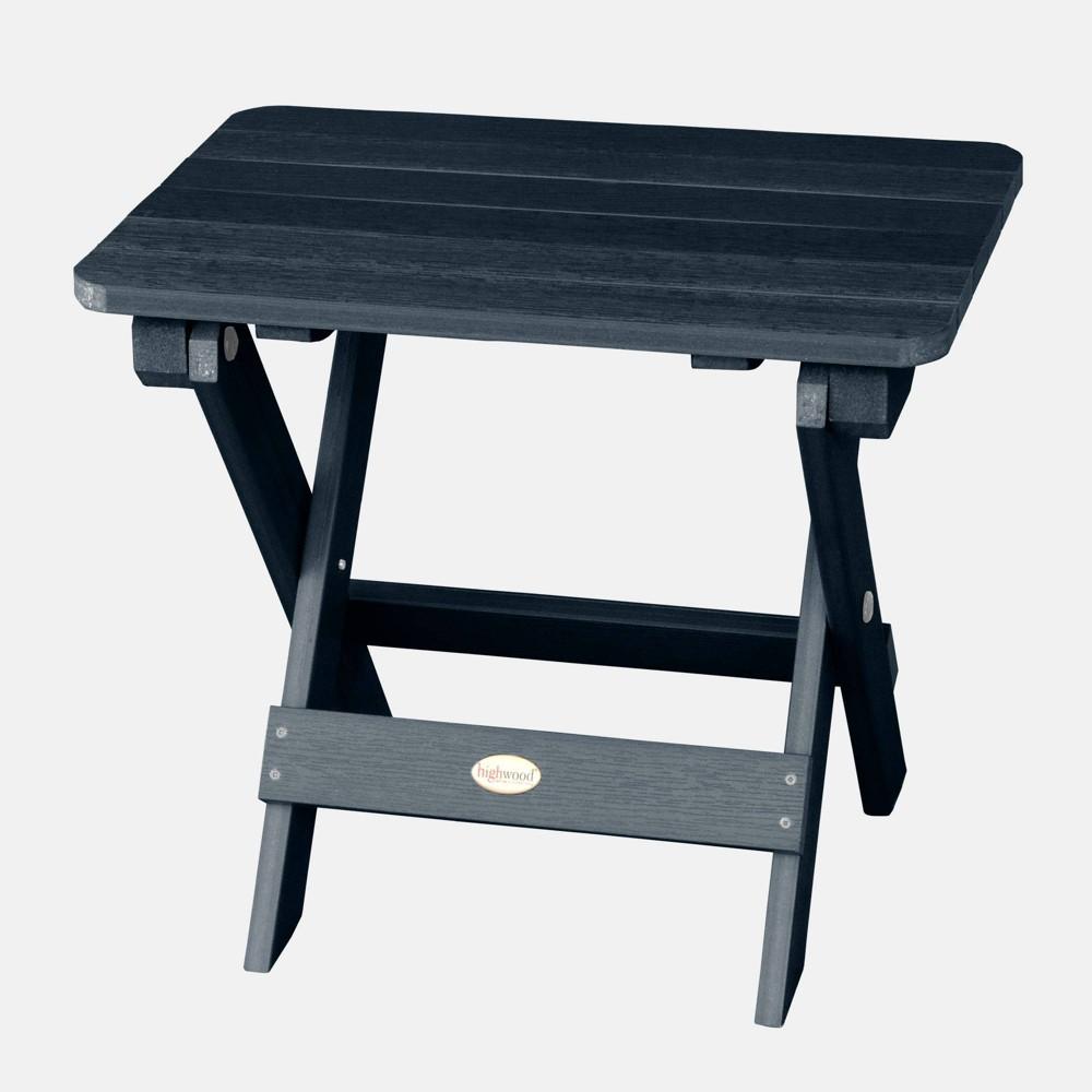 Image of Adirondack Folding Patio Side Table Federal Blue - highwood