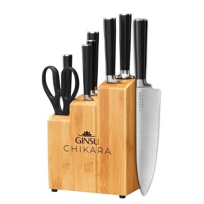 GINSU Bamboo Chikara 8pc Bamboo Block Set