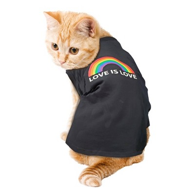 Love is Love Pride Dog and Cat Tank Shirt - Black - Boots & Barkley™