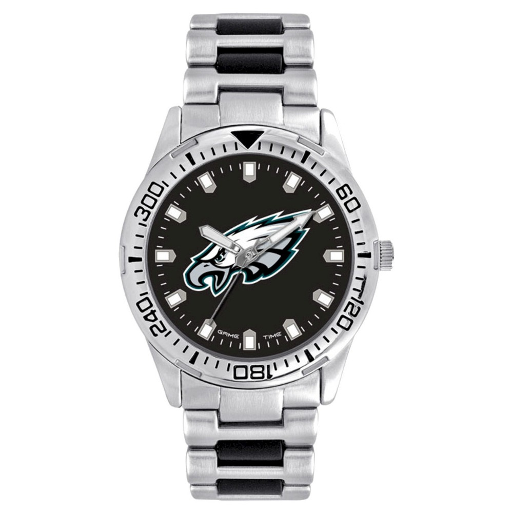 Men's Game Time NFL Heavy Hitter Sports Watch - Silver - Philadelphia Eagles