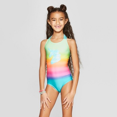 9abf3f018b72 Trending Swimsuits. Girls  Flip Sequins Time to Shine One Piece Swimsuit -  Cat ...