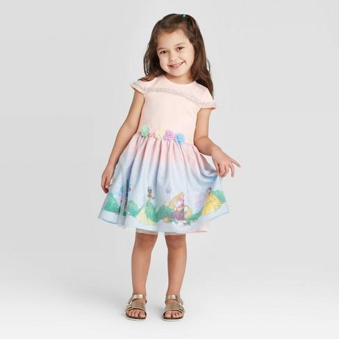 Toddler Girls' Pippa and Julie Disney Princesses Dress - Pink - image 1 of 4
