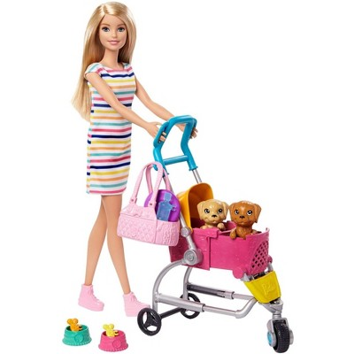 Barbie Stroll 'N Play Pups Doll Playset