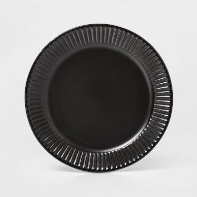 "10.4"" Stoneware Harrison Dinner Plate Black - Threshold™"