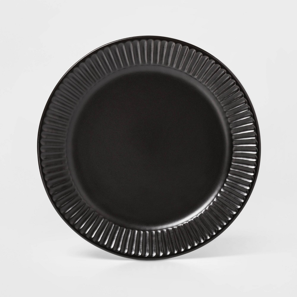 "Image of ""10.4"""" Stoneware Harrison Dinner Plate Black - Threshold"""