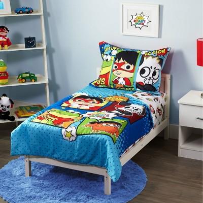 Ryan's World 4pc Toddler Bed Set