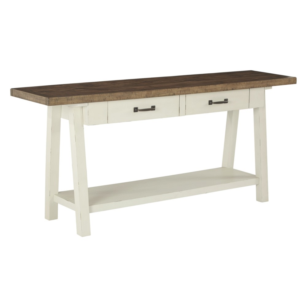 Stownbranner Sofa Table Brown/White - Signature Design by Ashley