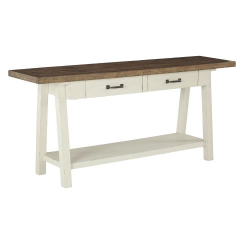Phenomenal Stownbranner Sofa Table Brown White Signature Design By Ashley Download Free Architecture Designs Ponolprimenicaraguapropertycom