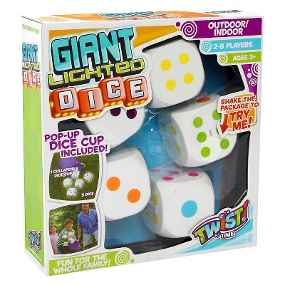 Twist Time Giant Lighted Dice - 6pc