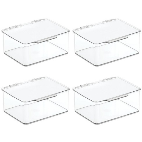 """mDesign Plastic Stackable Toy Storage Bin Box with Lid, 5"""" High, 4 Pack - image 1 of 4"""