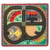 Melissa & Doug Round the Speedway Race Track Rug With 4 Race Cars (39 x 36 inches) - image 2 of 4