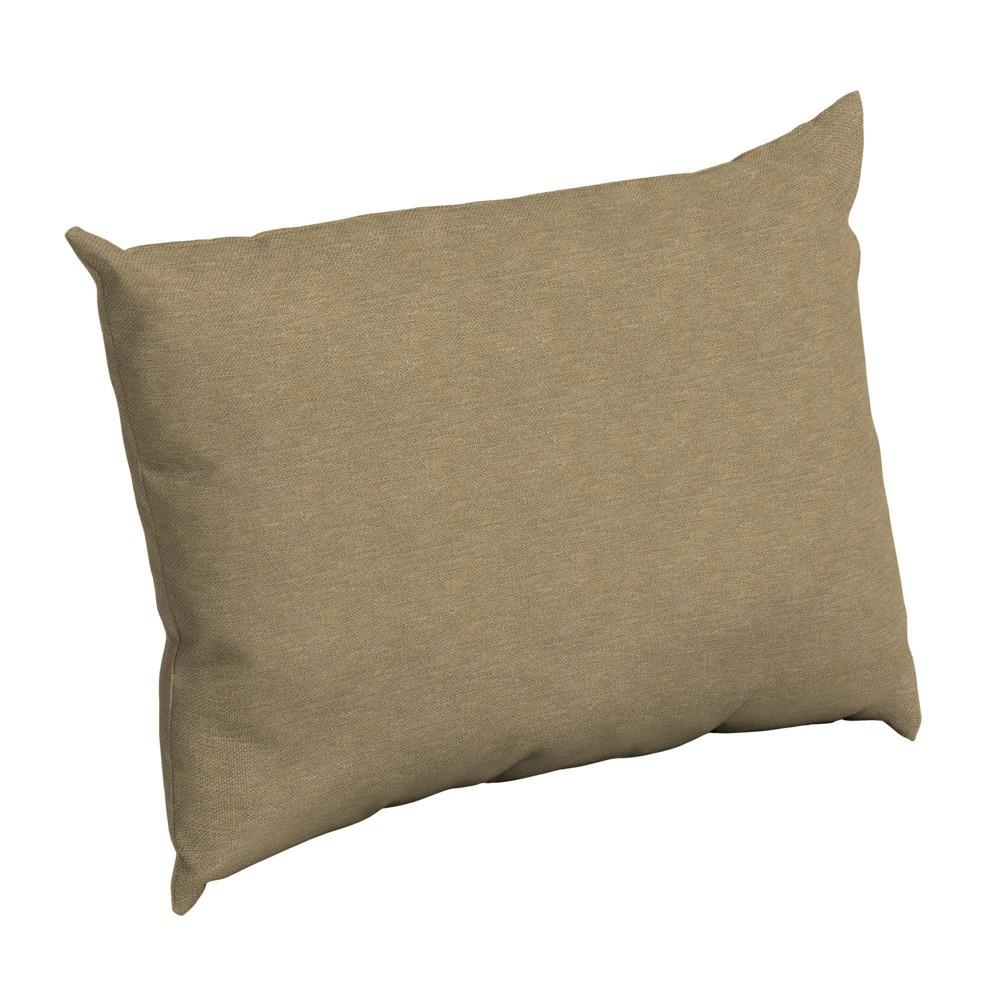 Arden Selections Outdoor Pillow Back Tan Hamilton Texture