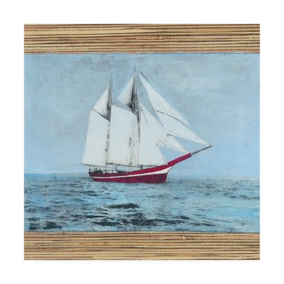 Naomi Mccavitt 'Seagrass Nautical I' Canvas Art - Trademark Fine Art