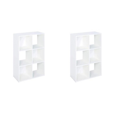 Closetmaid 899600 Decorative Home Stackable 6-Cube Cubeicals Organizer Storage, White (2 Pack)