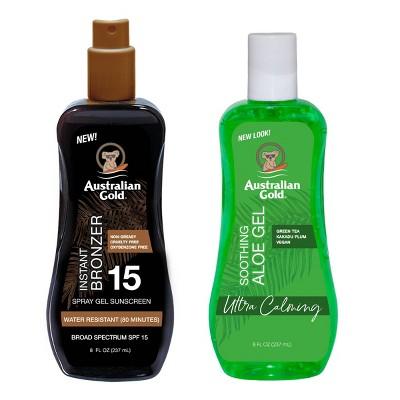 Australian Gold Soothing Aloe Sunscreen Spray Gel - SPF 15