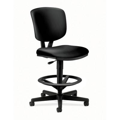 Volt SofThread Leather Office Stool for Standing Desk Black - HON