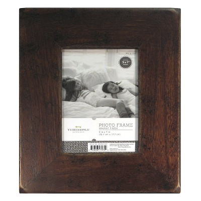 5 x7  Frame Distressed Walnut - Threshold™