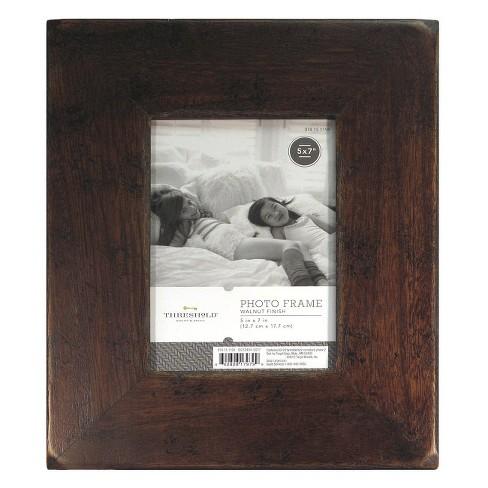 "5""x7"" Frame Distressed Walnut - Threshold™ - image 1 of 5"